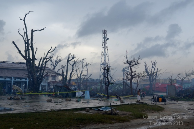 "Guiuan, Eastern Samar two weeks after supertyphoon ""Yolanda"" (Haiyan) devastated the region with its terrifyingly strong winds and deadly storm surges."