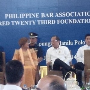 Justice Secretary Leila de Lima and President Benigno Aquino III
