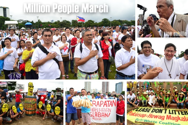 Police estimates around 100,000 people joined the march against pork barrel on August 26, 2013. Photos by Kristine Sabillo