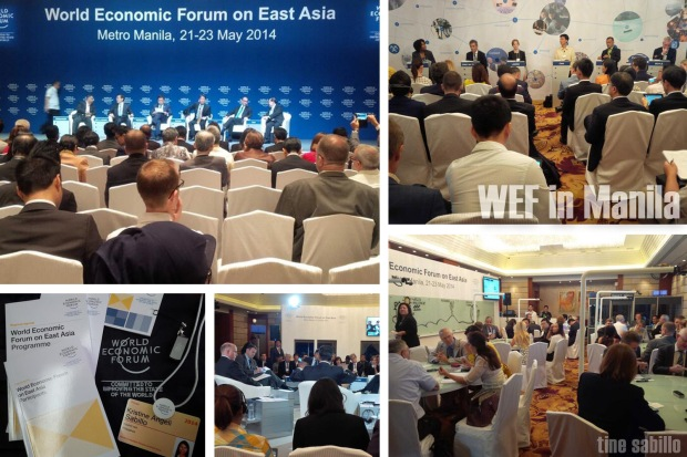 Information overload at the World Economic Forum on East Asia, held in Manila last May. Photos by Kristine Sabillo