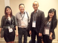 Team INQUIRER.net at Uncovering Asia. (L-R) Me, Editor-in-Chief John Nery, NewsLab Lead Matikas Santos, and reporter Julliane Love De Jesus.