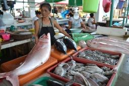 Woman in Cateel public market