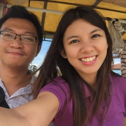 Riding a pedicab in Cateel, Davao Oriental