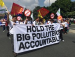 Greenpeace, other environmental groups file human rights case against big polluters. Photo by Kristine Angeli Sabillo